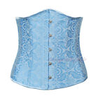 Waist Cincher Trainning Steel Boned Basques Underbust Floal Lace up back Corset