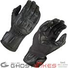 AKITO SPEEDSTER FULL LEATHER VENTED FINGER SLIDER MOTORCYCLE MOTORBIKE GLOVES