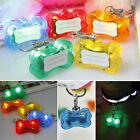 Cheap LED Safety Flashing Pet Shiny Glow Light Collar Pendant Tags Keychain HOT