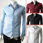 New Arrival Men's Button-Down Long Sleeve Shirt Business Casual Tops 4 Colors ❤