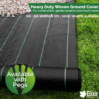 Ground Cover Landscape Fabric Weed Control 1m 2m 3m 4m 5m Widths + Pegs