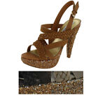 Naughty Monkey Gingerbread Womens Strappy Platform Sandals Heels Shoes