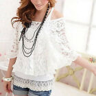 New Women Sexy Off Shoulder Lace Ladies Girl Shoulder Tops + Tank Top Blouses