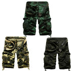 HOT Men Casual Army Camouflage Cargo Cotton Overall Shorts Sports Pants