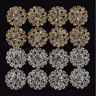 20pcs 20mm Round Rhinestones Buttons Flatback Crystal Decorative Button 2Color