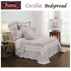 Cecilia White Bedspread + P/cases SINGLE King Single DOUBLE QUEEN KING Eurocases