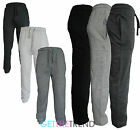 Mens Plain Black Grey Fleece Joggers Mens Jogging Bottoms With Pockets S M L XL