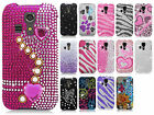 For Kyocera Hydro ICON C6730 Crystal Diamond BLING Hard Case Snap On Phone Cover