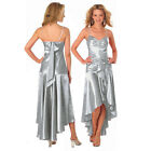Gorgeous Diamond Embellished Formal Cocktail Party Prom Dress Silver