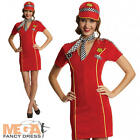 Racing Girl Driver Fancy Dress Ladies Sports Adults Womens Costume Outfit + Hat