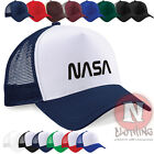 NASA logo space science moon astronaut Half mesh retro trucker baseball cap hat