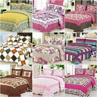 Floral Quilted Coverlet Patchwork Bedspreads Set Queen King Size Throw Blanket