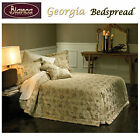 Georgia Gold Jacquard Bedspread + P/cases - SINGLE King Single DOUBLE QUEEN KING