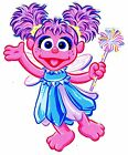 "6-10.5"" SESAME STREET ABBY CADABBY WALL STICKER GLOSSY BORDER CHARACTER CUT OUT"