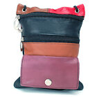 Soft Leather Purse Organizer Shoulder Bag 4 Pocket Micro Handbag Travel Wallet