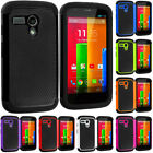 For Motorola Moto G Hybrid Hard Rugged Shockproof Matte Case Cover Accessory