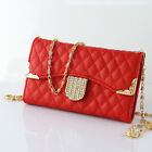 Pretty Bling Diamond Leather Flip Card Hold Wallet Handbag Pouch Hard Case Cover