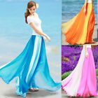 Fashion Womens Plus Size Chiffon Long Skirts Summer Saia Tulle High Waist Skirts