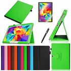 Folio Stand Leather Cover Case Film Pen for Samsung Galaxy Tab S 10.5 Wake/Sleep