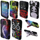 For AT&T Samsung Galaxy S4 Active I537 I9295 Turtle Hybrid Y Stand Case Cover