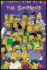 "THE SIMPSONS - FRAMED TV POSTER / PRINT (PURPLE BACKGROUND) (SIZE: 24"" X 36"")"