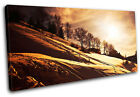 Snowy Landscapes SINGLE CANVAS WALL ART Picture Print VA