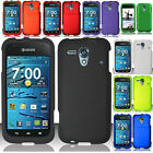 Kyocera Hydro Edge C5215 Rubberized HARD Case Snap On Cover + Screen Protector
