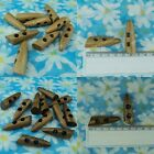 """10 Light or Dark Wood Toggle Buttons Cloth Accessories 46 x 14mm (1 3/4"""" x 1/2"""")"""