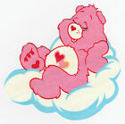 "5-8"" CARE BEARS LOVE-A-LOT  BEAR WALL STICKER GLOSSY BORDER CHARACTER CUT OUT"