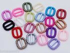 60 Acrylic Pearl Ribbon Slider Buckles Baby Shower Communion Wedding Craft Cards