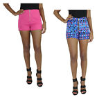 Baby Phat Women's High Waisted Zip Front Detail Shorts