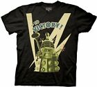 Adult Mens Black Science Fiction TV Show Doctor Who To Victory! T-shirt Tee