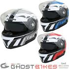 DUCHINNI D405 XRR SPORTS TOURING FULL FACE INTERNAL VISOR MOTORCYCLE BIKE HELMET