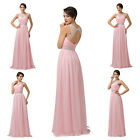 Awesome Satin Cocktail Evening Prom Bridesmaid Sleeveless Graduation Long Dress