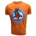 STOMP T SHIRT ALL OR NOTHING MENS ORANGE MOD TOP UK S