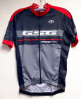 Rapid Dry CYCLING SHORT SLEEVE JERSEY (Black / Red) Made in Italy by GSG