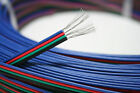 Lot 4 Color 4-Pin 4 Wire Extension Cable LED RGB Light Strip Wire Cord 3528 5050