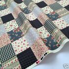 per 1/2 metre/fat quarter 100 % cotton Black/grey patchwork fabric 112cm wide