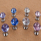 Modern Crystal Cupboard Drawer Diamond Shape Wardrobe Door Pull Handle Knob FWQ
