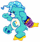 """5-8.5"""" CARE BEARS BEDTIME BEAR  CHARACTER WALL SAFE STICKER BORDER CUT OUT"""