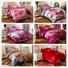 New Florals King/Queen Size Bed New 100%Cotton Quilt/Doona/Duvet Cover Set Linen