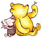 """5-10.5"""" DISNEY CLASSIC POOH PIGLET WALL SAFE STICKER CHARACTER BORDER CUT OUT"""