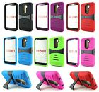 Heavy Duty Hard Rugged Impact Hybrid Kickstand Case Cover for LG G2 D802 D801