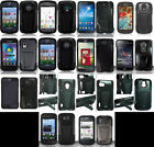 zte awe phone case - LOTS OF Phone Cover HYBRID T-STAND skinBLACK/BLACK Case FOR (ALL MODELS)