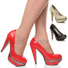 WOMENS LADIES PLATFORM HIGH HEEL PARTY COURT SHOES PUMPS SIZE