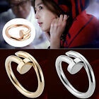 New Fashion Spikes Korea Style Women Gold Silver Plated Screw Nail Ring HOT Sale