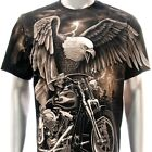 r42 Rock Eagle T-shirt SPECIAL Tattoo Skull Freedom Streetwear Biker Casual Swag