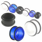 2pcs flesh tunnel acrylic ear gauge plugs stretching double flare piercing 9FQP