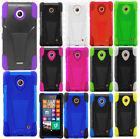 Cricket Nokia Lumia 630 Advanced KICKSTAND Rubber Phone Cover + Screen Guard
