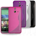 SLIM FITTED S-CURVE RUBBER GEL CASE COVER SKIN FOR HTC ONE (E8) ACE MOBILE PHONE